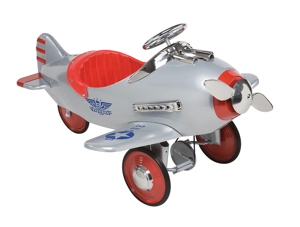 Silver Pursuit Airplane